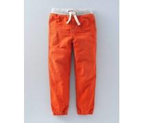 Schlupfhose aus Denim Orange Jungen Boden