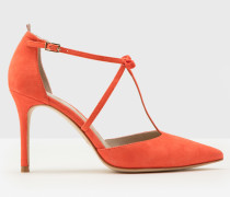 Jennifer Pumps mit T-Steg Koralle Damen