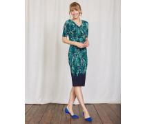 Rita Kleid mit Raffung Dunkelgrün Damen