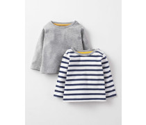 T-Shirts im 2er-Pack Navy Baby Boden