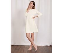 Brigitte Ottoman A-Line Dress Elfenbeinfarben Damen