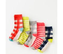 Socken im 5er-Pack Kariert Mädchen