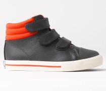 Hohe Sneakers aus Leder Grau Jungen