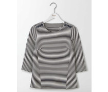 Evie Ponte-Shirt Gestreift Damen