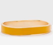 Schmaler Emaille-Armreif Gelb Damen Boden