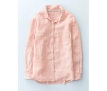 Das Leinenhemd Pink Damen Boden