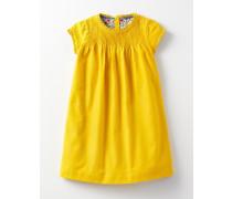 Rüschenkleid mit Biesen Gelb Baby Boden