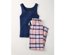 Langes Pyjamaset Pink Mädchen Boden