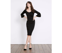 Betty Kleid aus Ponte-Roma-Jersey Black Damen
