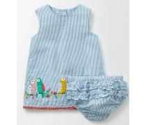 Sommerliches Kleid mit Vögeln Blau Baby Boden