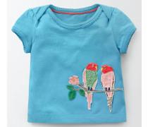 T-Shirt mit Tiermotiven Blau Baby Boden