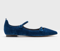 Flache Federica Schuhe Blue Damen