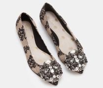 Flache Rosalie Schuhe Gold Damen