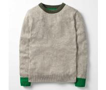 Gemütlicher Pullover mit Rundhalsausschnitt Green Jungen Boden
