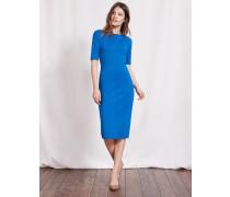 Barbara Kleid aus Ponte-Roma-Jersey Blau Damen