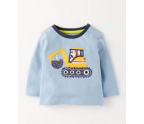 Shirt mit Fahrzeugapplikation Blau Baby Boden