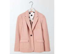 Emilia Ponte-Jacquard-Blazer Pink Damen