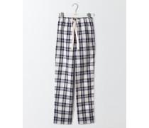 Pyjamahose aus Baumwollpopeline Elfenbeinfarben Herren