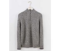 Stornoway Pullover mit halbem Reißverschluss Grau Herren