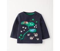 T-Shirt mit Farmapplikation Navy Baby Boden