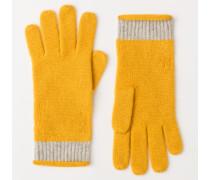 Kaschmir-Handschuhe Yellow Damen