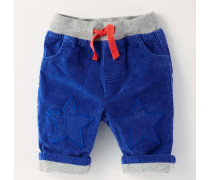 Hose mit Sternflicken Blau Baby Boden