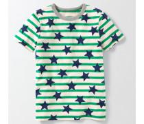 Gemustertes T-Shirt Grün Jungen