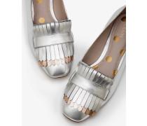 Sophie Flache Schuhe mit Fransen Silver Damen