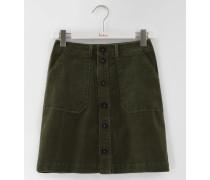 Minirock mit durchgehender Knopfleiste Dunkelgrün Damen