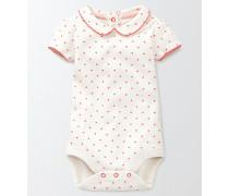 Sommerlicher Body mit Kragen Pink Baby Boden