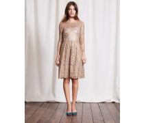 Luxuriöses Kleid aus Spitze Bunt Damen Boden