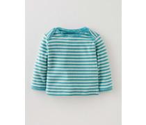 Superweiches T-Shirt mit Zierborte Blau Baby Boden