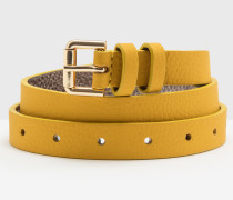 Schmaler Taillengürtel Gelb Damen
