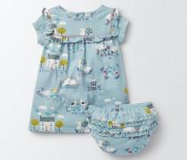 Hübsch gemustertes Jerseykleid Blau Baby Boden