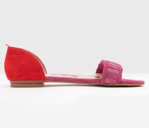 Flache Eleana Schuhe mit Webdesign Pink Damen
