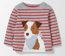 T-Shirt mit lustigem Tiermotiv Grau Baby