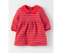 Jerseykleid mit Glitzerstreifen Rotgold