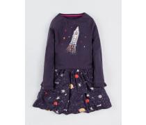 Schwingendes Jerseykleid Dunkelgrau Mädchen