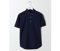 Leinen-Baumwoll-Hemd zum Überziehen Navy Herren