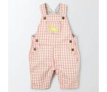 Hübsche Latzhose mit Vichykaros Pink Baby Boden