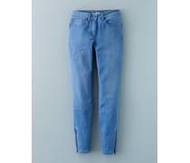 7/8-Jeans mit Reißverschluss Blau Damen