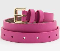 Schmaler Taillengürtel Pink Damen