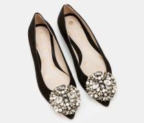 Flache Rosalie Schuhe Black Damen