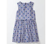 Iris Kleid Blau Mädchen Boden