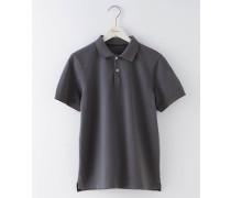 Piqué-Poloshirt Dunkelgrau Herren
