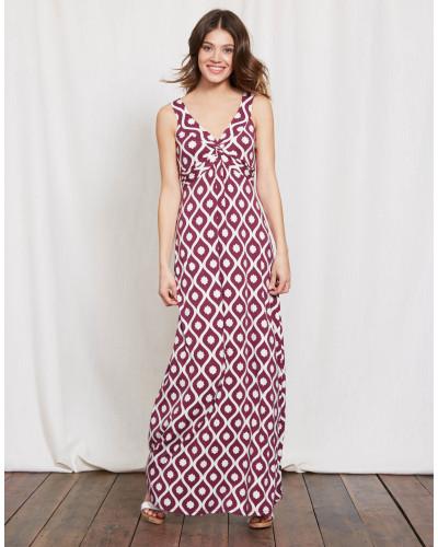Jersey-Maxikleid mit Knotendetail Purple Damen
