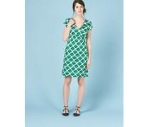 Kleid mit geschwungener Taillennaht Gr�n Damen Boden