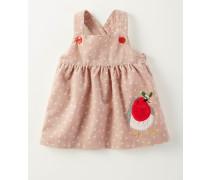Trägerkleid aus Cord mit Winterfreunden Pink