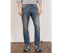 Jeans mit schmalem Bein Helles Denim Herren
