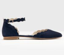 Flache Elsie Schuhe Navy Damen